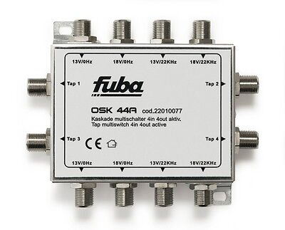 MULTISWITCH SATELLITARE 4 In + 4 Out + 4 uscite  OSK44A FUBA