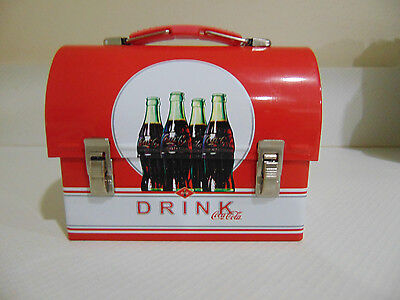 Coca Cola Tin Domed Carryall - Miniature Lunchbox