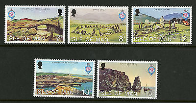 Isle of Man  1980   Scott # 163-167   Mint Never Hinged Set