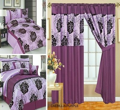 Curtains Pair Pencil Pleat Fully Lined Available 7 Pieces Bedspread Purple Lilac