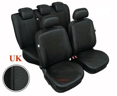 Tailored Full Set Eco Leather Seat Covers Black Ford Focus Mk1 Mk2 up to 2009
