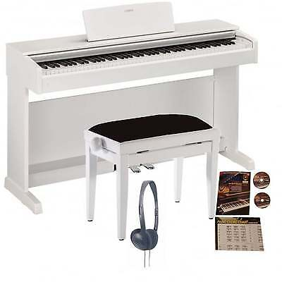Yamaha YDP-143 Arius Digital Piano Matte White Bundle
