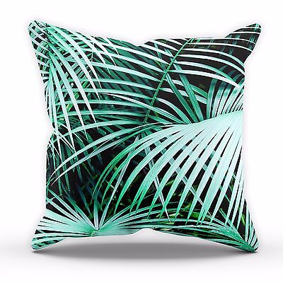 Deep Green Palm Tree Cushion Leaves Gift Home Decor Cover Pillow Bed Linen C2