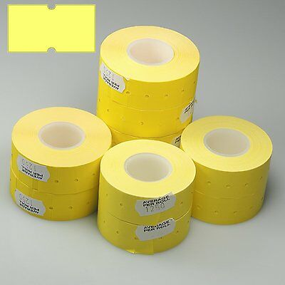 22 X 12mm Punch Hole CT1 Price Marking Gun Labels Yellow with Peelable Adhesive