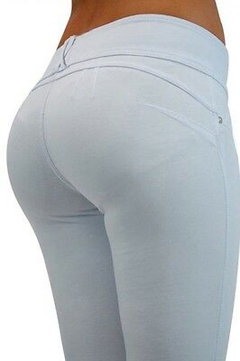 Jeans Pantaloni donna Leggings BIANCO modellanti Push up Butt Lifter jegging