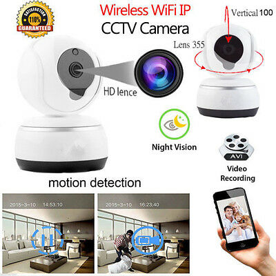 720P HD Wireless Wifi IP Camera Webcam Baby Monitor CAM Pan Tilt Night Vision UK