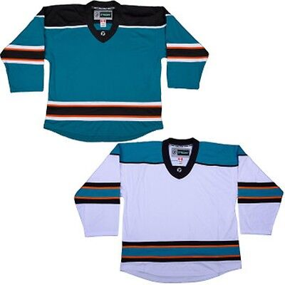 572780caf ... Tron Hockey Practice Jerseys All About Hockey Tron DJ200 Dry Fit Hockey  Jersey White Black ...