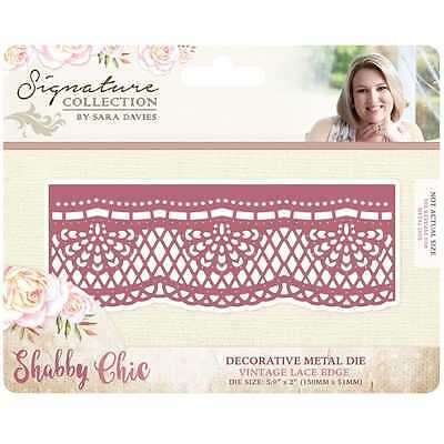 Crafter's Companion Sara Signature Shabby Chic Metal Die Set - Vintage Lace Edge