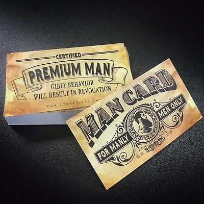 MAN CARD- Business Cards (10 pack)