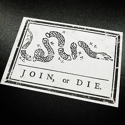 Join or Die - Sticker
