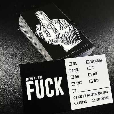 F*CK- Business Cards (10 pack)