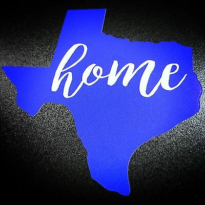 Texas Home Blue - Sticker