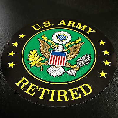US Army Retired Circle - Sticker