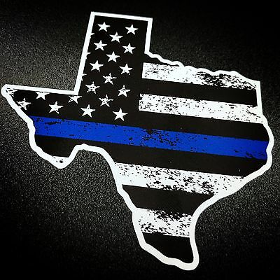 Texas Blue Stripe - Sticker