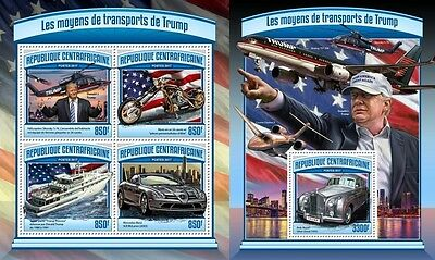Z08 CA17114ab CENTRAL AFRICA 2017 Trump transport MNH ** Postfrisch Set