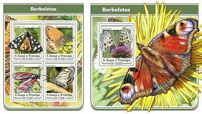 Z08 IMPERF. ST17103ab Sao Tome and Principe 2017 Butterflies MNH ** Postfrisch S
