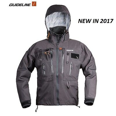 Guideline ALTA Wading Jacket - Graphite - (Medium) * 2017 Stocks * Code 65362