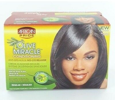 African Pride Olive Miracle No-Lye Relaxer - Regular