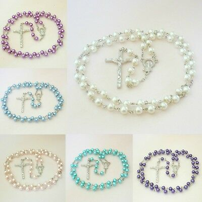 Rosary Beads with Small Beads for Children. High Quality Rosaries, No Plastic