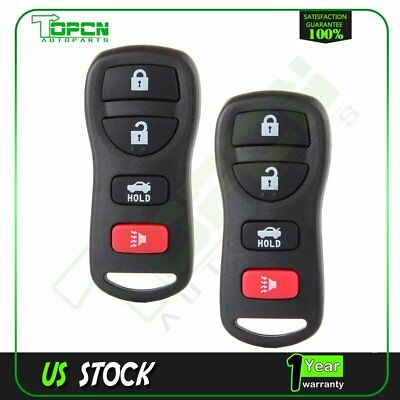 2PC Replacement Keyless Entry Remote Key Fob Clicker Transmitter Control Alarm