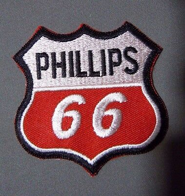 PHILLIPS 66 Embroidered Iron On Uniform-Jacket Patch 2.75""