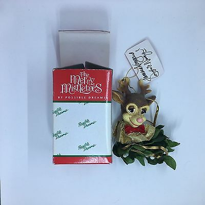 Possible Dreams Merry Mistletoes Reindeer Christmas Ornament
