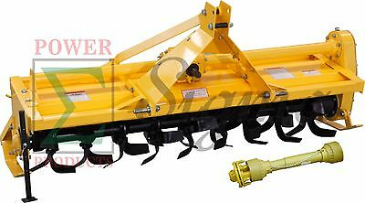 "84"" ROTARY TILLER - 3 Point Hitch Mounted - PTO Driven-7FT With SHAFT"