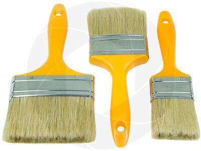 3pcs Flat Paint Cutting Brush Soft Bristle Hard Plastic Handle Painting Stain