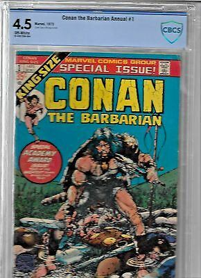 Conan The Barbarian Annual #1 Cbcs 4.5 (1973) Marvel Comics White Pages