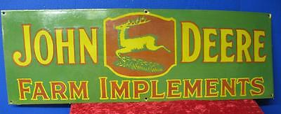 Vintage  1930's John Deere Farm Implements Porcelain Sign