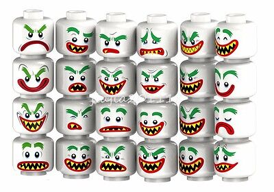 Minifigures 24pcs Joker Emoji Face Expression Heroes Collectible Building Toys
