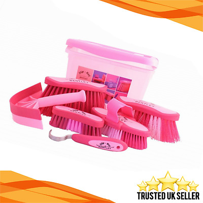 Equestrian Horse Grooming Cleaning Brush Set Horse Grooming Brushes Kit Pink