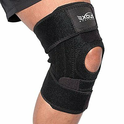 Performance Knee Support Brace With Lateral Stabilisers Anti-Slip Design - Enhan