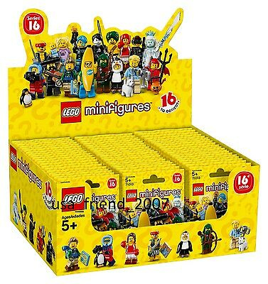 LEGO 71013 - UNOPENED BOX DISPLAY MINIFIGURES SERIES 16 - INCL.60 x SEALED PACKS