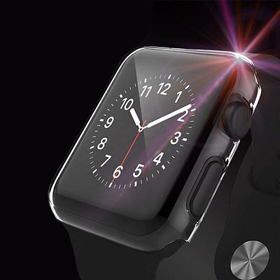 2 Pack Apple Watch Case Screen Protector Full Coverage Crystal Clear 42mm iWatch