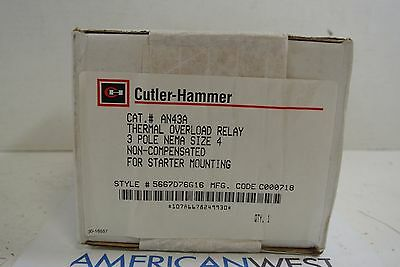 Cutler Hammer AN43A 3P Size 4 Thermal Overload Relay - NEW IN BOX