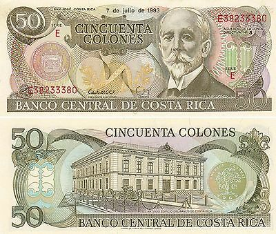 Costa Rica 50 Colones (7.7.1993) - Central Bank Building/p257a UNC