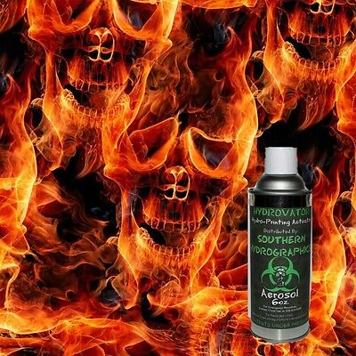 Hydrographic Film Water Transfer Hydro Dip 6Oz. Activator W/fire Skull Film Kit