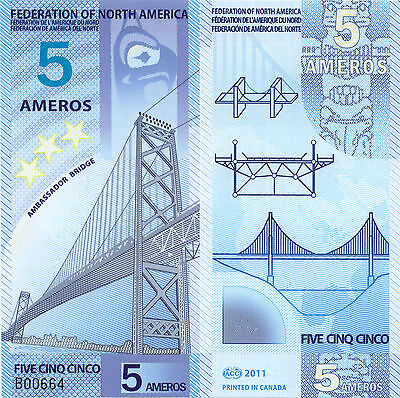 Federation of NA 5 Ameros (2011) - Fantasy Note