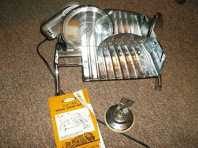 Vintage Rival Protect-O-Matic Electric Food Slicer Instructions Cover EUC