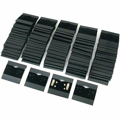 "Black Velvet Plastic Display Cards for Earrings, Jewelry Accessories, 2"" x 2"" Pk"