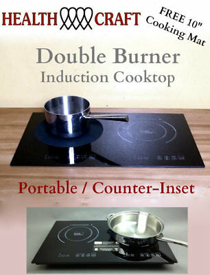 True Induction TI-2B Counter Inset Double Burner Induction Cooktop 120vac 1800w