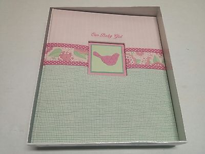CR Gibson Pink White Flower Ella Sweet Baby Girl Memory Keepsake Book scrapbook