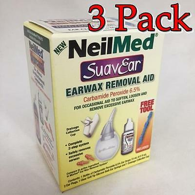 NeilMed SuavEar Earwax Removal Aid Kit, 1ct, 3 Pack 705928603066A385