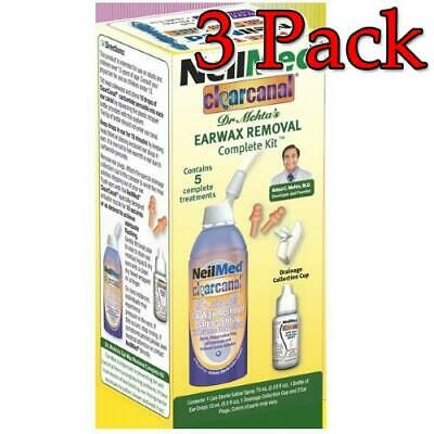 NeilMed ClearCanal Earwax Removal Complete Kit, 1ct, 3 Pack 705928602755A480