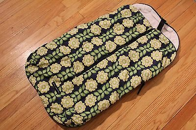 Petunia Pickle Bottom Baby Stroller Bunting Bag Blue with Flowers