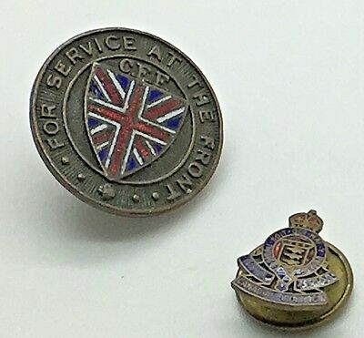 World War CEF Pin for Service at the Front  33826 Canadian Ordnance Pin
