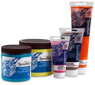 Speedball Water-Soluble Block Printing Ink 16 oz. White