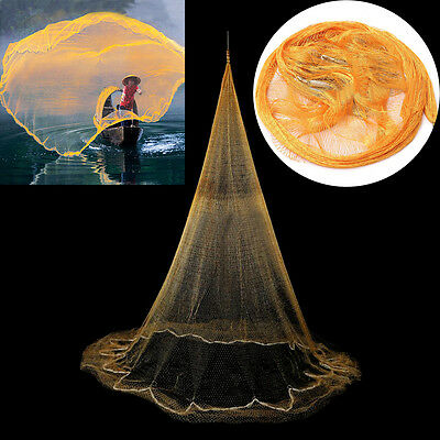 3.2*2m Hand Throw Fishing Cast Net Spin Bait Sinker Small Mesh Equipment Tackle