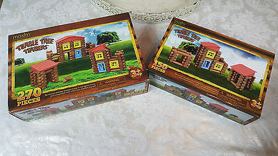 Maxim Tumble Tree Timblers Lot Lincon logs 270pc and 150 pc sets NEW